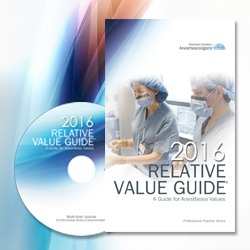 Relative Value Guide 2016 - Multi User CD & Book 15 Users